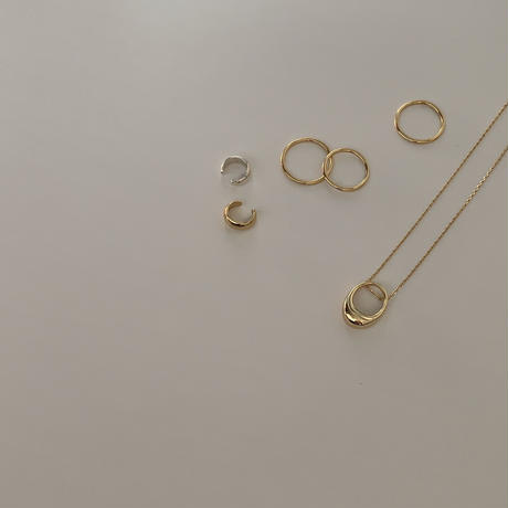 silver925 simple gold ring pt.2 / 3set(5号/9号/11号)