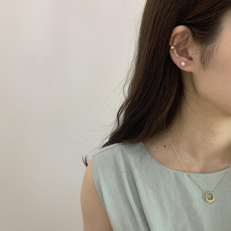 silver925 plump earcuff