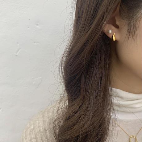silver925 teardrop pierce