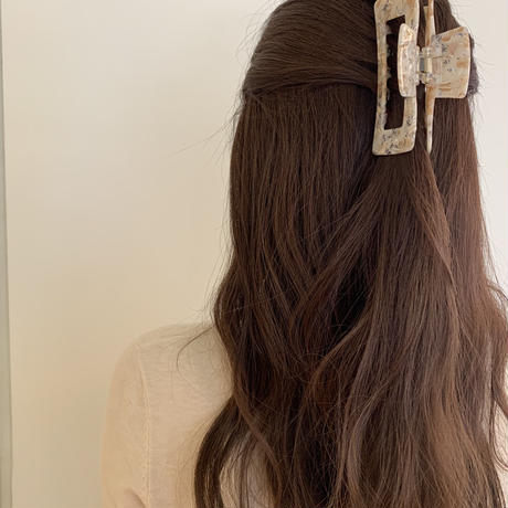 cafelatte long hairclip