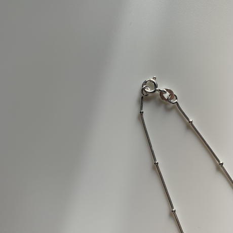 silver925 snake dot necklace