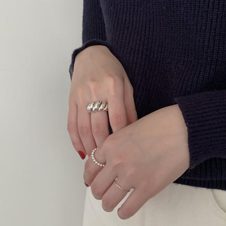 silver925 rib ring