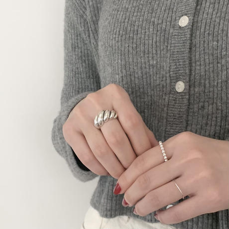silver925 bubble ring