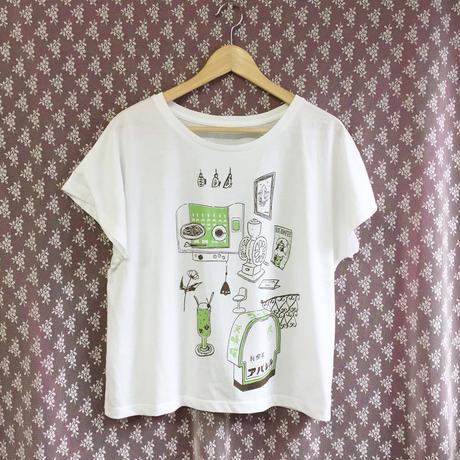 純喫茶 アパレル ドルマンスリーブTシャツ オフホワイト 白