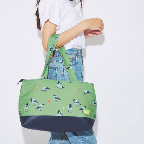 Graycrow cushion tote bag(Green)