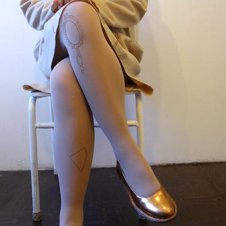 Mirror Tights (Dim pink - 80D)