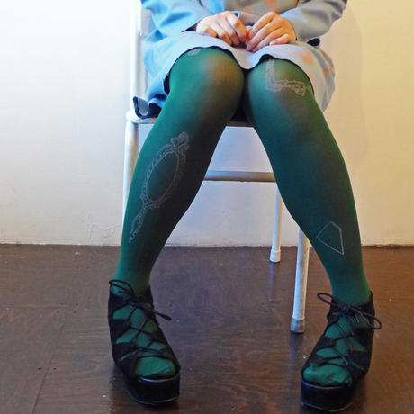 Mirror Tights (Deep green- 80D)