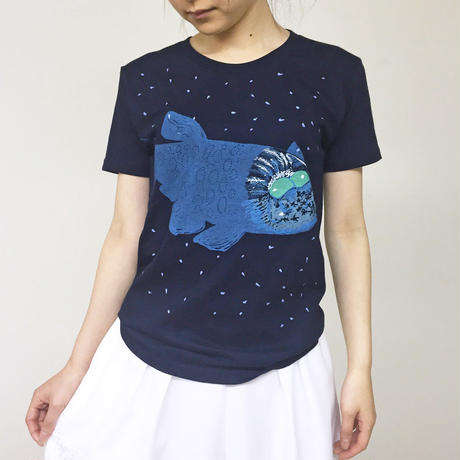 Tシャツ デメニギス(Navy ネイビー)
