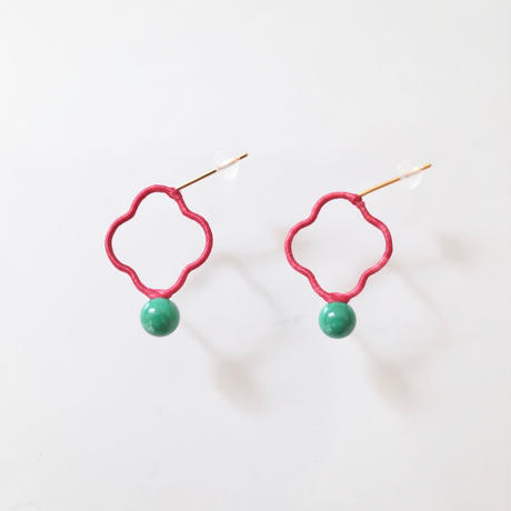 KIKKOU |  flower stones pair pierce