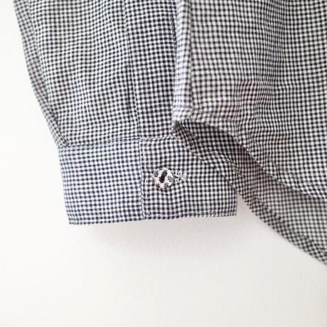 "A .Dupré    High neck gather blouse""Black Check"""