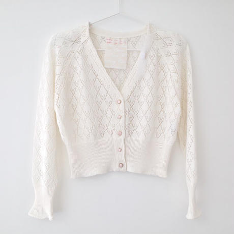 SOWA | 「floating cherry」Tiles knit cardigan