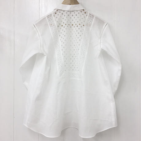 point de Japon / Patched Lace Blouse / Off White