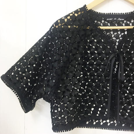 point de Japon / Bolero Jacket / Black