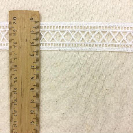 Guipure Lace Ladder Trim / Off White / 2m