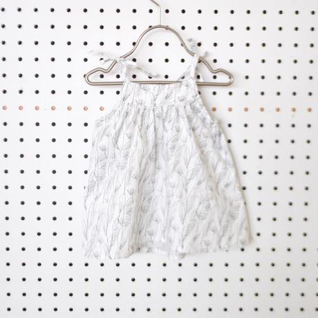 【ネコポス便送料無料】チュニックワンピース(フェザーホワイト)/apibaby(アピーベビー)