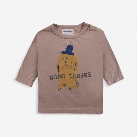 長Tシャツ Bobo Choses Dog In The Hat long sleeve T-shirt  (12-18M/18-24M/24-36M) / bobochoses(ボボショーズ)