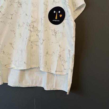 """顔つきシャツ(XL/XXL) """"COTTON SPDX  A SHIRT""""like a STONE  / arkakama(アルカカマ)"""