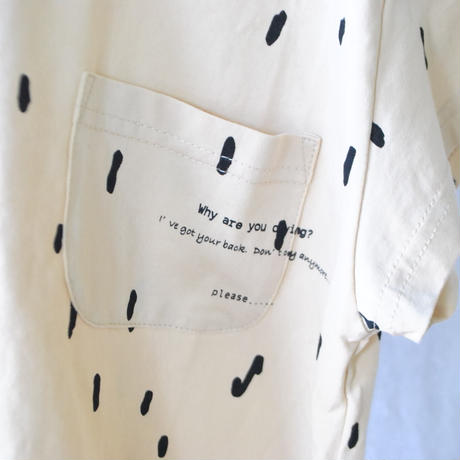 "Tシャツ(XL/XXL)  POCKET WIDE S/S TEE ""TEARS  of earth""   / arkakama(アルカカマ)"