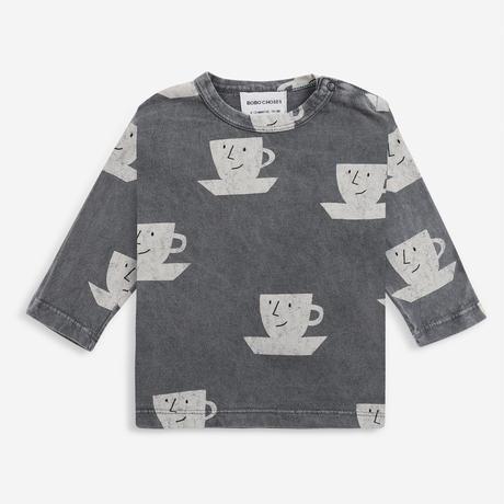 長TシャツCup Of Tea All Over long sleeve T-shirt  (12-18M/18-24M/24-36M) / bobochoses(ボボショーズ)