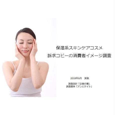【リサーチレポート】保湿系スキンケア 訴求コピーのアンケート調査