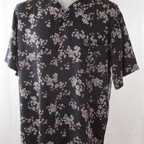 メンズ和柄 半袖 レーヨン アロハシャツ 2Lサイズ 花びら柄