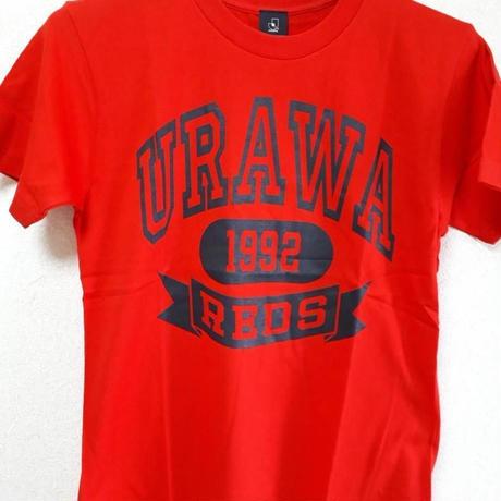 【Jリーグ公式グッズ】浦和レッズ(背中無地)大人用 Tシャツ(カレッジ) レッド