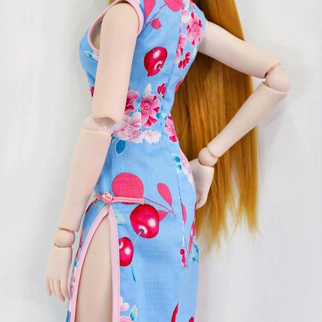 DD,1/3 ドルフィードリーム服 お迎えドレス 花柄チャイナドレス
