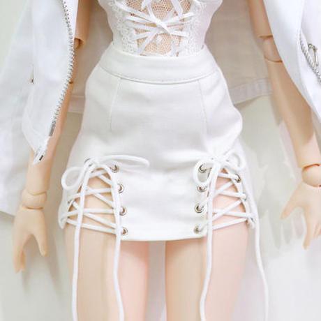 DD,1/3 ドルフィードリーム服 単品 編み上げ ミニスカート