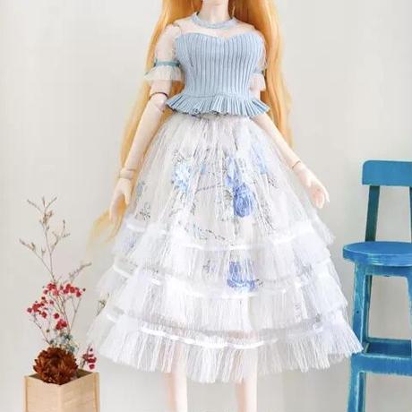 DDドルフィードリーム洋服 トップスセーター 花柄ロングスカート