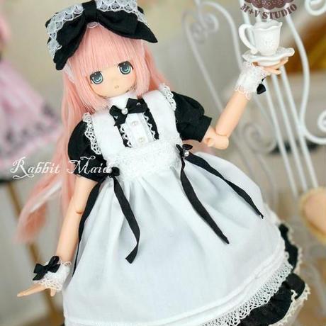 AZONE1/6 人形サイズ  メイドワンピース(ブラック)