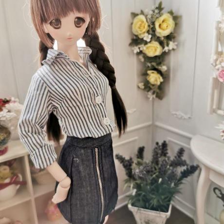 DD,1/3 ドルフィードリーム服 オフィスカジュアル ワイシャツ タイトスカートセット