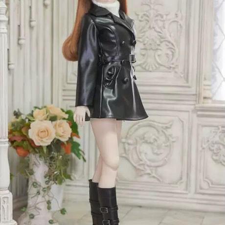 DDドルフィードリーム洋服 トレンチコート(ブラック)