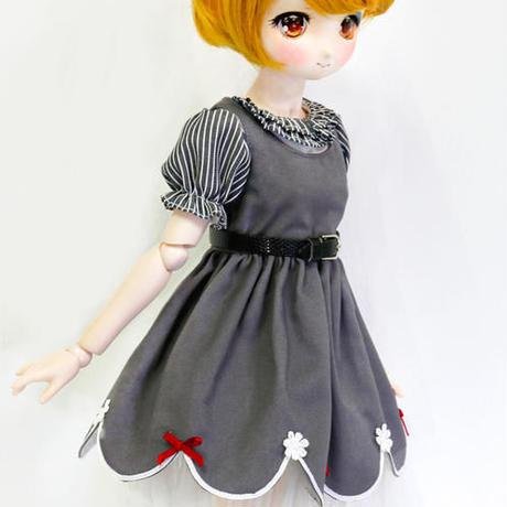 MDD ドール Mini Dollfie Dream服 グレーワンピースセット