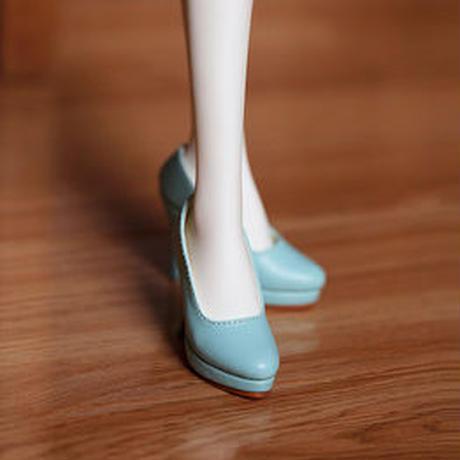 DD,DDS,DDDY,SD ドルフィードリーム靴 シンプルパンプス(アクアブルー)