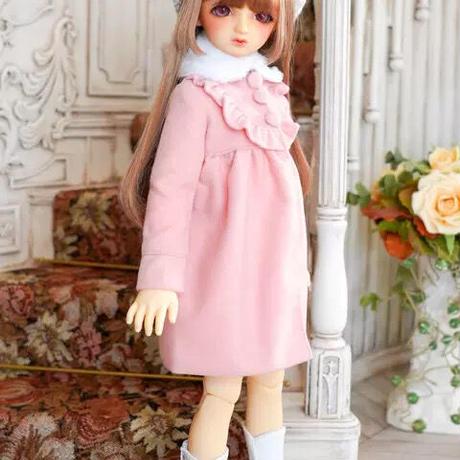 MDD ミニドルフィードリーム服 女の子 ドール用コート(ピンク)