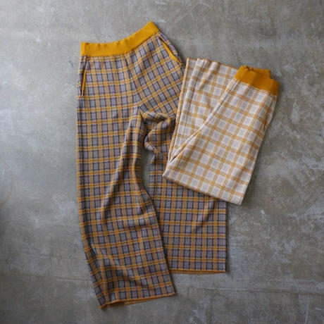 PHEENY 14G check jaquard knit pants