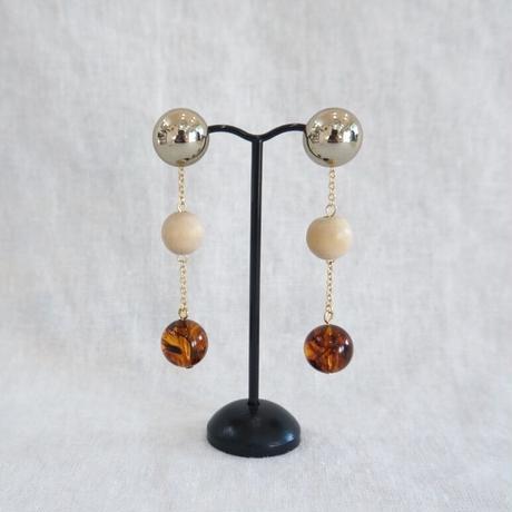 APPRECIATIVE multi beaded  piearce/earring