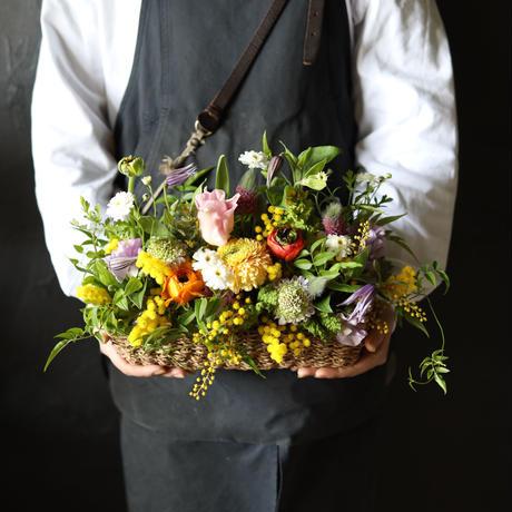 【おまかせ定期便】季節のお花おまかせアレンジメント M