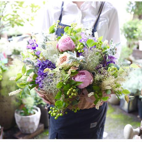 【おまかせ定期便】季節のお花おまかせアレンジメント L