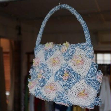 【PLAY clothes】straw flower bag