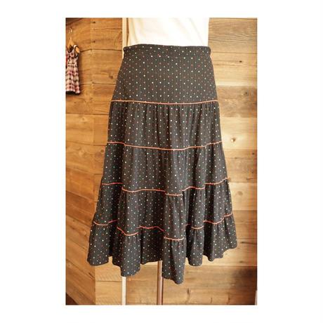 colorful dot skirt