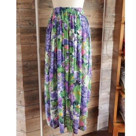 watercolor painting long skirt