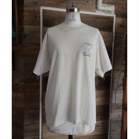 90's purple back print T-shirt