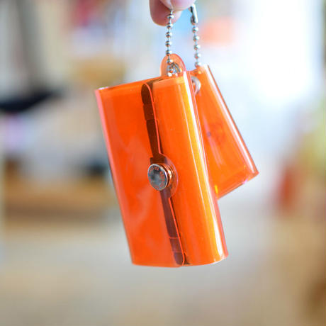 SALLIES MINIMAL WALLET ''Pocket Pal'' ORANGE / サリーズ ミニマルウォレット PVC 財布 コインケース オレンジ