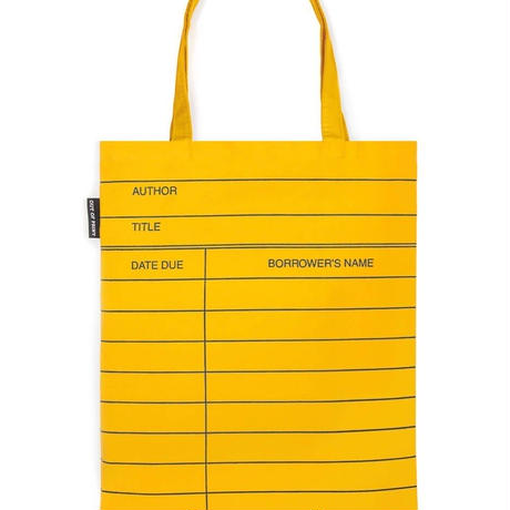 Out of Print Library Card Tote Bag Yellow / アウトオブプリント ライブラリーカード トートバッグ イエロー