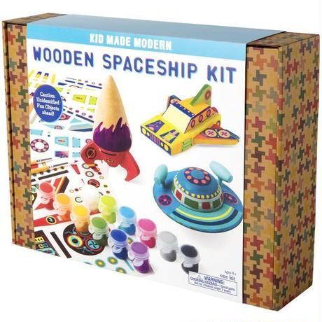 KID MADE MODERN WOODEN SPACESHIP CRAFT KIT/キッドメイドモダン ウッデン スペースシップ キット