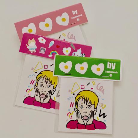Screaming  Macaulay a.k.a.  Kavin  (from Home alone) sticker