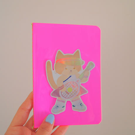 80s  Girl Band HOLOGRAPHIC sticker (guitar)