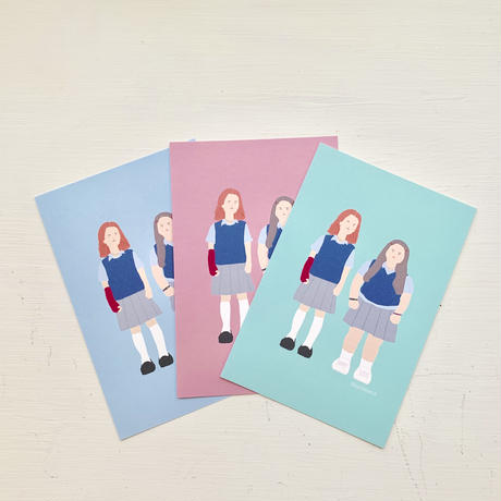 """Lady Bird"" 3 postcards set"