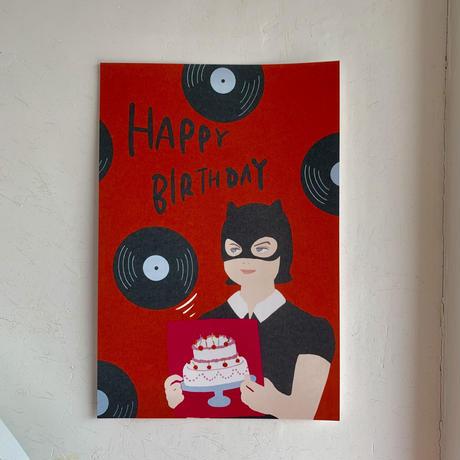 Enid Cerebrates Your Happy Birthday Postcard